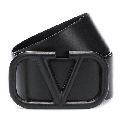 Valentino - Valentino Garavani VLOGO leather belt | Mytheresa