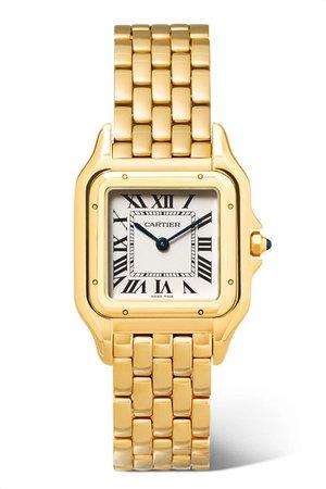 Cartier | Panthère de Cartier 27mm medium 18-karat gold watch | NET-A-PORTER.COM
