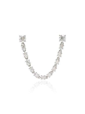 Anita Ko 18kt White Gold Diamond Earring - Farfetch