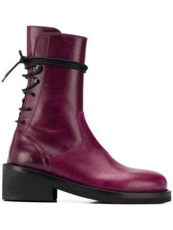 Ann Demeulemeester Berlin 55Mm Lace-Up Ankle Boots BERLINVIOLET Purple | Farfetch
