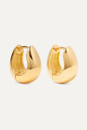 Gold Gold vermeil hoop earrings | Sophie Buhai | NET-A-PORTER