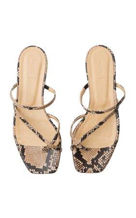 Marina Snake Print Sandals By Aeyde | Moda Operandi