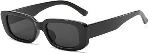 Amazon.com: Dollger Rectangle Sunglasses for Women Trendy 90s Retro Sunglasses Square Frame Black sunglasses : Clothing, Shoes & Jewelry