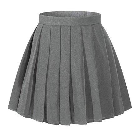 Amazon.com: Beautifulfashionlife Women`s School Uniform High Waist Flat Pleated Skirts (XL,Dark Grey): Clothing