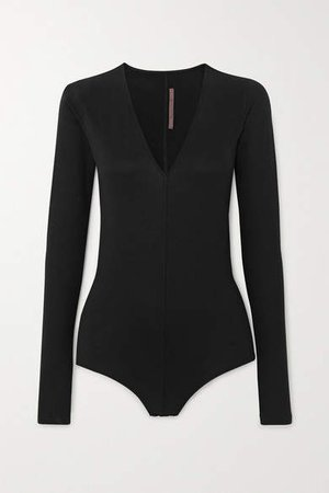 Stretch-jersey Bodysuit - Black