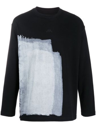 A-Cold-Wall* Long Sleeve Abstract Print Top ACWMTS008WHL Black   Farfetch