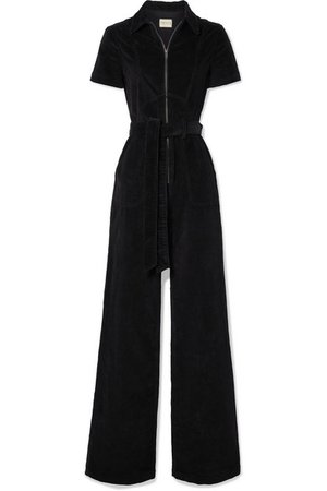 Alice + Olivia | Gorgeous belted cotton-blend corduroy jumpsuit | NET-A-PORTER.COM