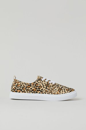 Low Profile Sneakers - Beige