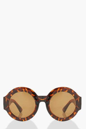 Oversized Tortoise Shell Sunglasses | Boohoo