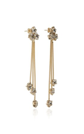 Milky Way Gold-Tone Crystal Earrings by Rosantica | Moda Operandi