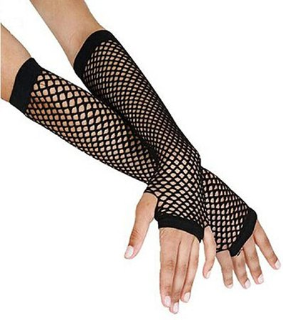 Amazon.com: general3 Lady Punk Goth Disco Dance Gloves Costume Fashion Lace Long Fingerless Mesh Fishnet Gloves (Black) : Clothing, Shoes & Jewelry