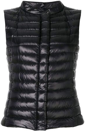 slim-fit padded gilet