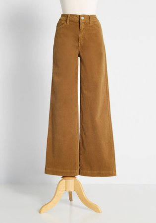 -Leg Corduroy in Khaki Brown   ModCloth