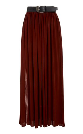 Belted Jersey Maxi Skirt by Proenza Schouler   Moda Operandi