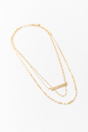 Bar Pendant Layered Necklace | Forever 21