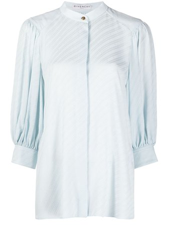 Givenchy Collarless puff-sleeve Blouse - Farfetch