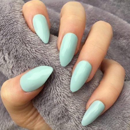 Mint Gloss Almond – Doobys Nails