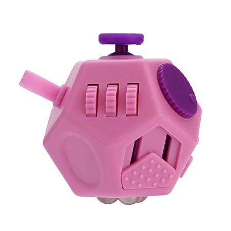 Amazon.com: YUDOTE Updated Mini Fidget Toy 12 Sides Hand Dodecahedron Toys Every Day Carry Fidgets Devices Relieves Stress and Anxiety Antidepression - For Children and Adult (PINK): Toys & Games