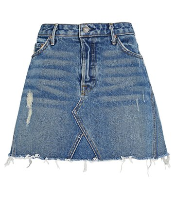 GRLFRND Eva Denim Mini Skirt | INTERMIX®