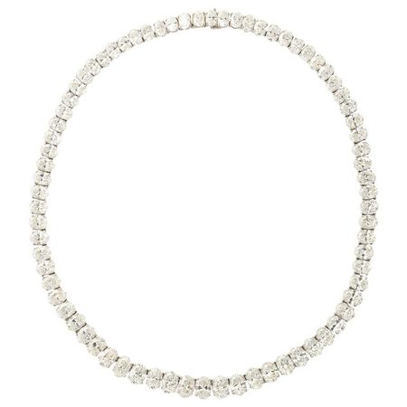 Rare Oval Diamond Platinum Necklace | $500,000