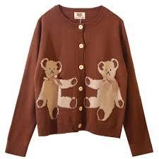 teddy bear cardigan yesttyle - Google Search