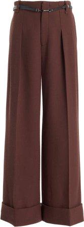 Roland Mouret Eshmore Wide-Leg Wool-Blend Pants