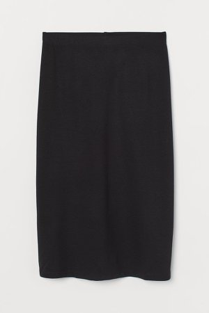 Cotton Jersey Skirt - Black