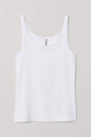 Jersey Tank Top - White
