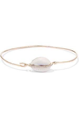 Pascale Monvoisin | Cauri 9-karat gold, porcelain and diamond bracelet | NET-A-PORTER.COM