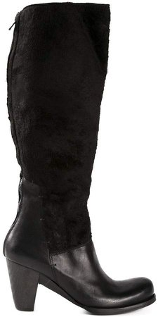 Lost & Found Ria Dunn shearling panel boots