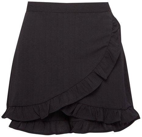 **Lola Skye Black Ruffle Skirt