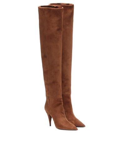 Kiki 100 Suede Over-The-Knee Boots   Saint Laurent - Mytheresa