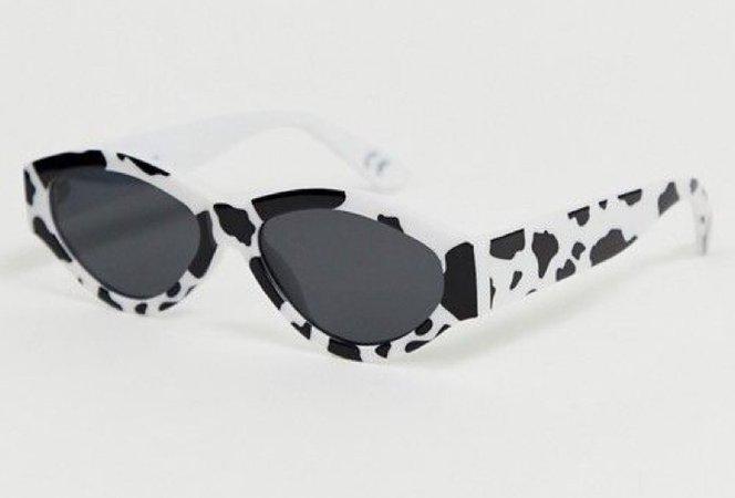 cow printed sunglasses