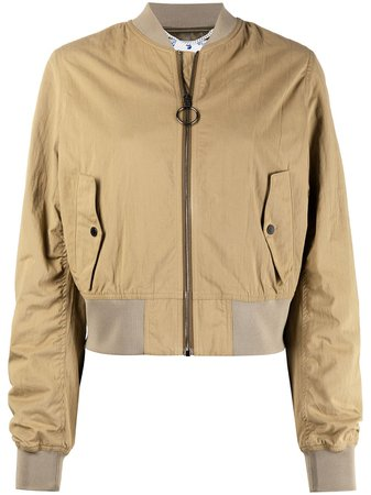 Off-White graphic-print Bomber Jacket - Farfetch