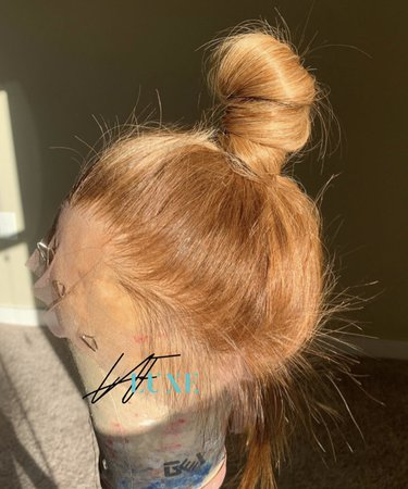 light brown messy top knot bun lace wig