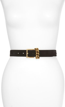 Chain Keeper Leather Belt