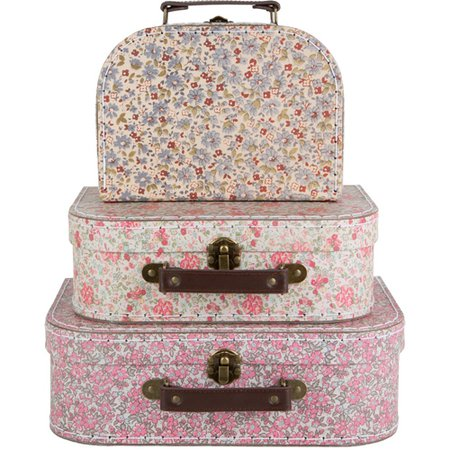 Sass and Belle Vintage Style Floral Suitcase Set from Elizabeth's Embellishments