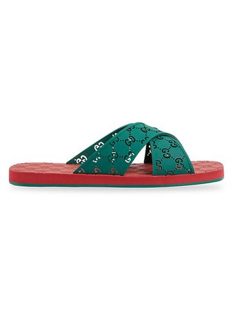Gucci Men's GG Slide Sandals   SaksFifthAvenue