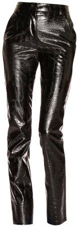 BROGNANO Black Croc Trousers