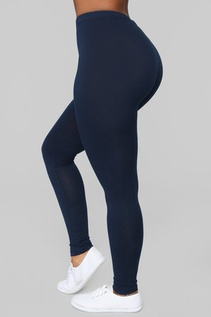 Kim Basic Legging - Navy