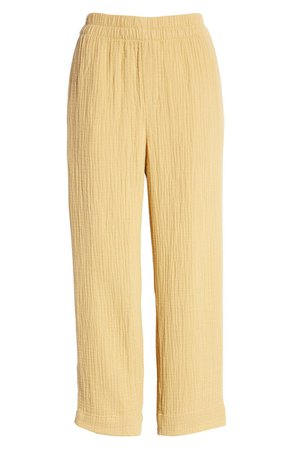 Madewell Huston Lightspun Pull-On Tapered Crop Pants   Nordstrom