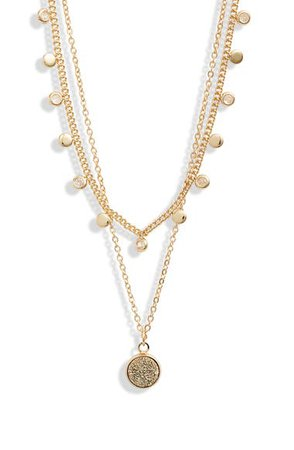 Halogen® Tiered Charm Layered Necklace | Nordstrom