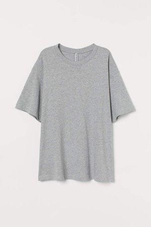 Wide-cut Cotton T-shirt - Gray