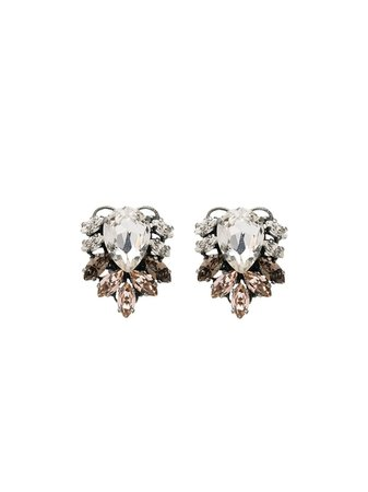 Anton Heunis silver-tone Crystal Earrings - Farfetch