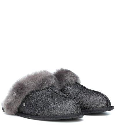 Scuffette II Sparkle wool slippers