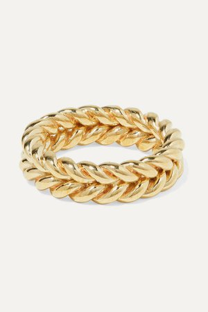 Laura Lombardi | + NET SUSTAIN Grana gold-tone ring | NET-A-PORTER.COM