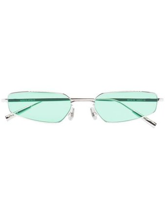 Shop green & silver AMBUSH Astra rectangle-frame sunglasses with Express Delivery - Farfetch