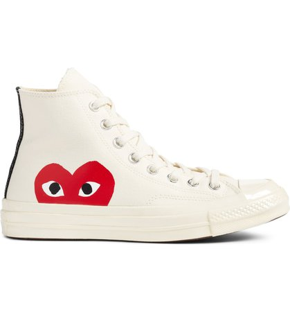 Comme des Garçons PLAY x Converse Chuck Taylor® - Hidden Heart High Top Sneaker (Men) | Nordstrom