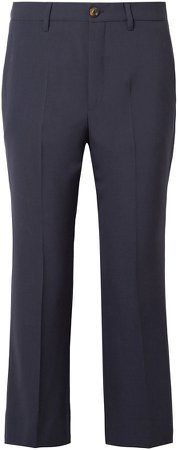 Cropped Wool-blend Crepe Flared Pants