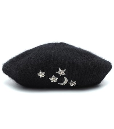 Exclusive To Mytheresa – Embellished Mohair Beret | Jennifer Behr - Mytheresa